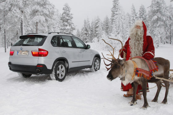 Santa and the BMW X6